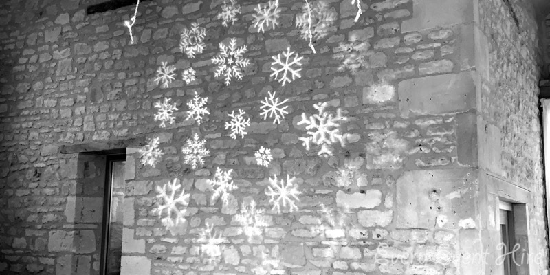 Snowflake Christmas Projection Hire Gloucestershire
