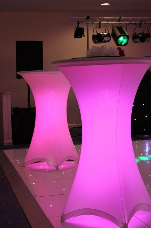pink poseur table