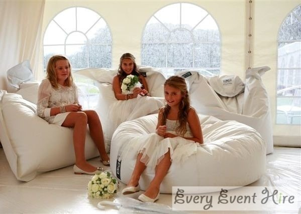 wedding bean bag hire