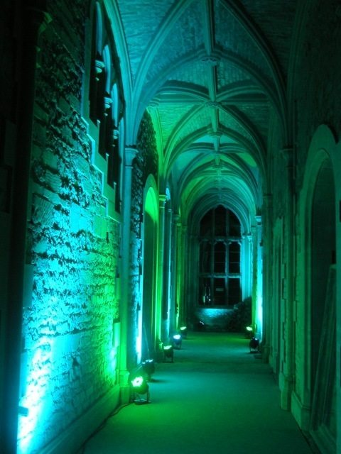 venue lighting Woodchester Mansion