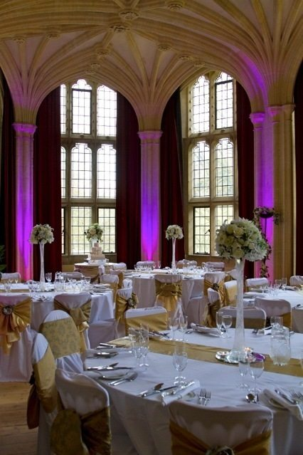 wedding lighting Woodchester Mansion