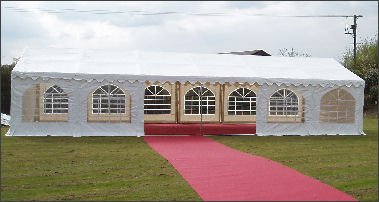 6x12 marquee and red carpet