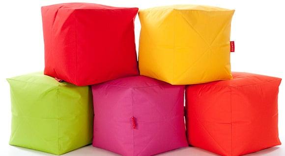 Mixed Colour Cube Bean Bags