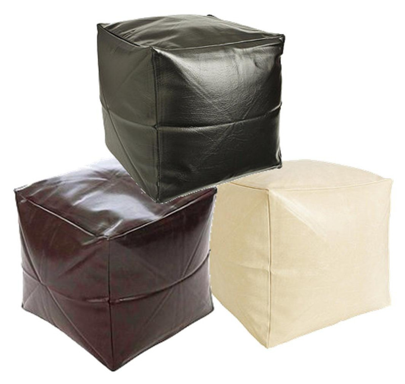faux leather cube bean bags