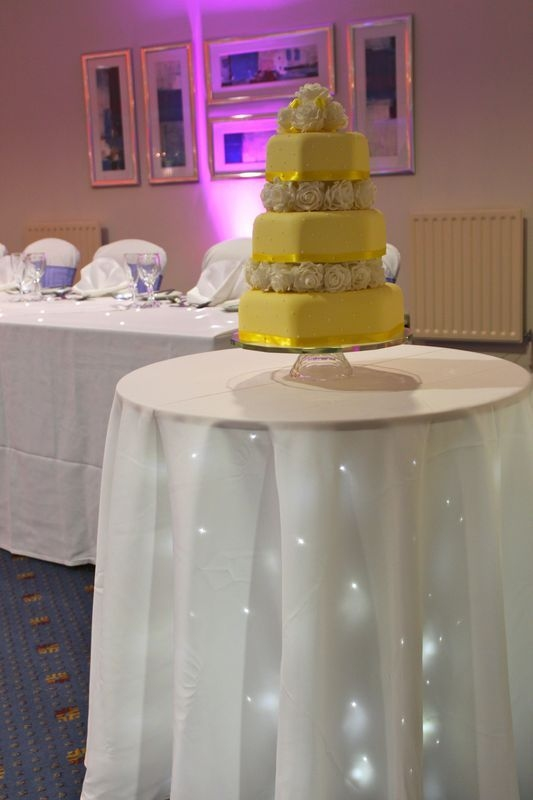 Starlit cake table