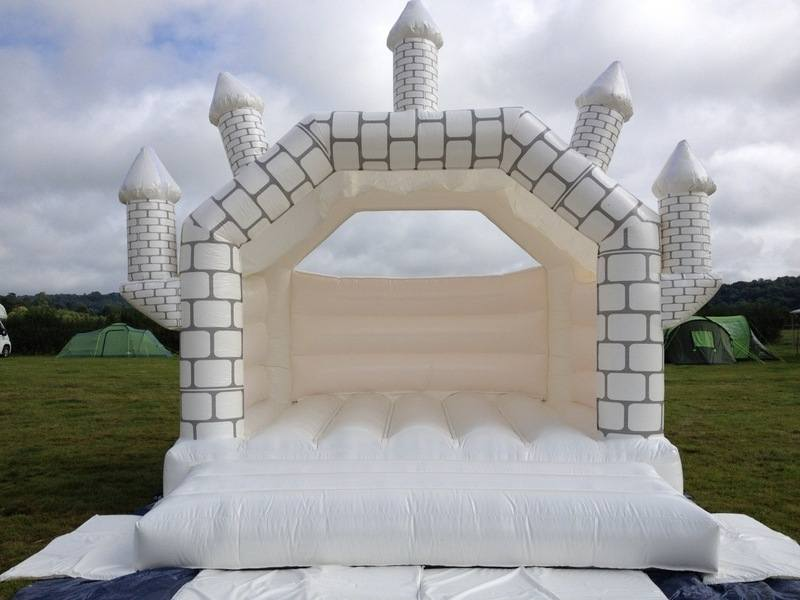 bouncy castle white wedding