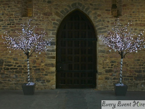 LED Blossom Trees Brockworth Priors Tithe Barn