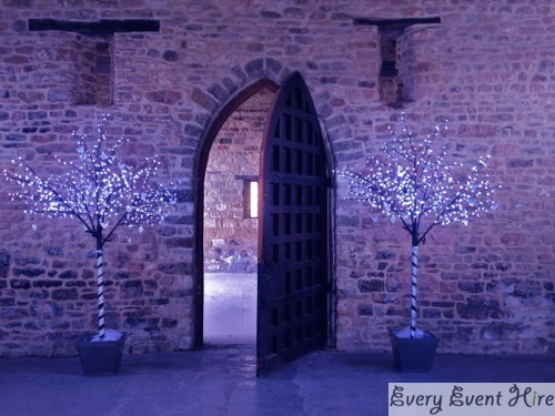 LED Blossom Trees with Purple Mood Lighting