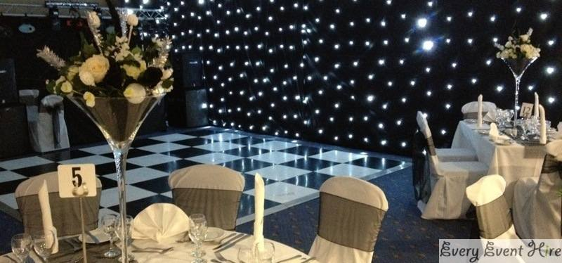 Black and White Dance floor hire Gloucester