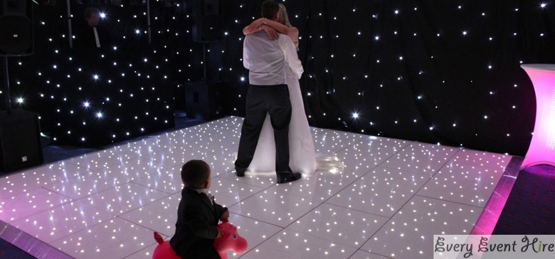 Starlit Dance Floor at Bowden Hall Hotel with bride and groom