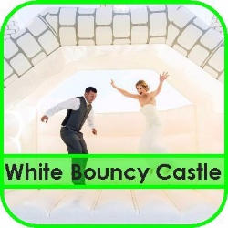 White Bouncy Castle Hire Gloucestershire