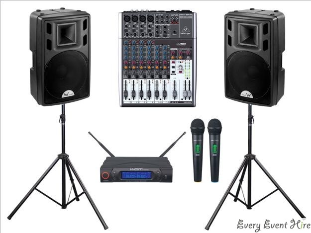 Speakers Microphones and Mixer Hire Gloucestershire