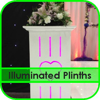 Illuminated Flower Plinths Hire Gloucestershire