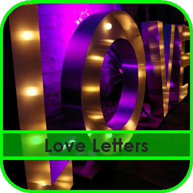Illuminated Love Letters Hire Gloucestershire