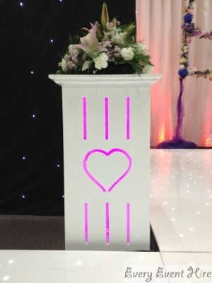 Wedding Flower Plinth Hire Gloucestershire