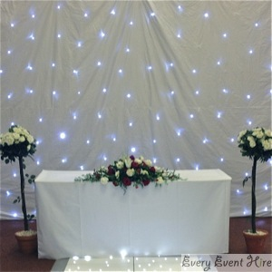 White Starlight Backdrop Hire Gloucestershire