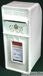 Cream Post Box Hire Gloucestershire
