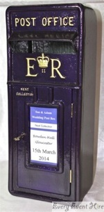 Purple Wedding Postbox Hire Gloucestershire