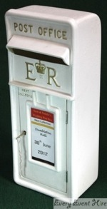 White Wedding Postbox Hire Gloucestershire