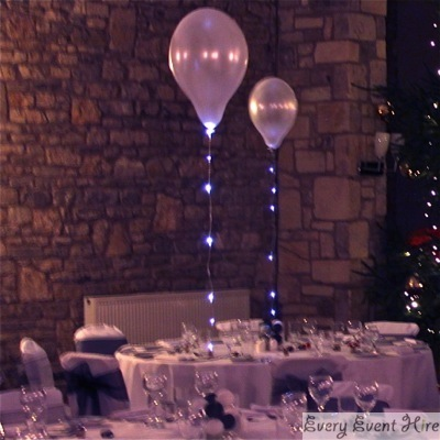 Wedding Balloon Light Hire Gloucestershire