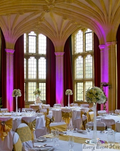 Indoor Wedding Lighting Hire Gloucestershire