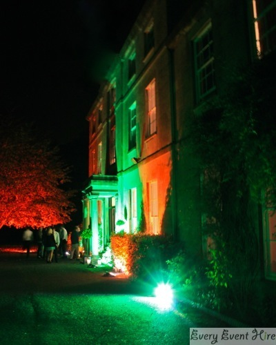 Eastington Park Gloucestershire with Autumnal Wedding Lighting
