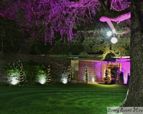 Outdoor Wedding Lighting Hire Gloucestershire