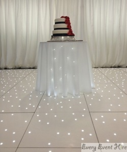 Starlit Cake Table with Starlit Dance Floor Bowden Hall Gloucester