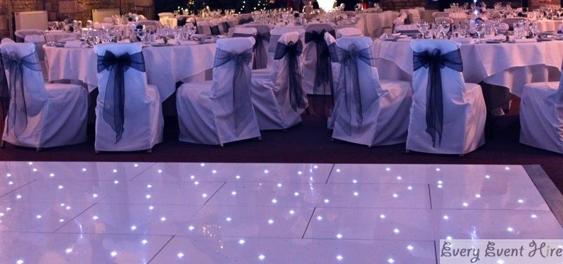 White Starlit Dance Floor at Frogmill Hotel Cheltenham