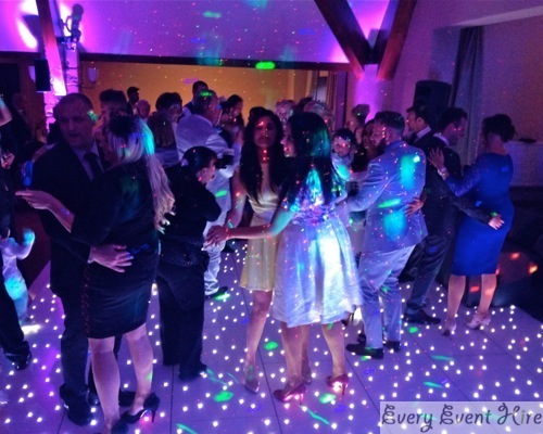 Starlit Dance Floor with Wedding Party Dancing at Frogmill Hotel