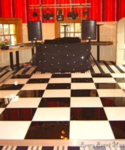 Black and White Dance Floor at Cotswold 88 Painswick