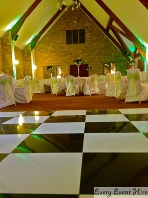 Black and White Dance Floor at Frogmill Hotel Cheltenham