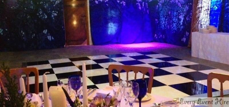 Black and White Dancefloor at Brockworth Priors Barn Gloucester