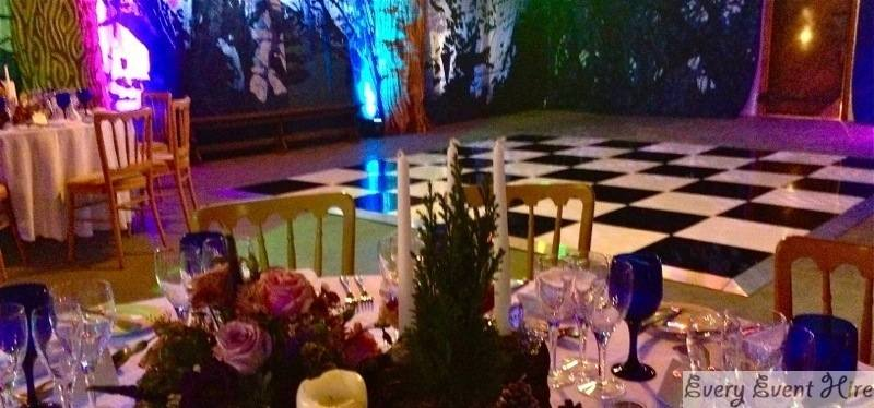 Chequered Dance Floor Hire Gloucestershire