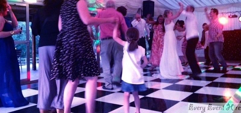 Wedding with Black and White Dance Floor Gloucester