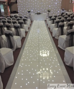 Starlit Wedding Aisle at Frogmill Cheltenham