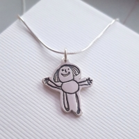 Fine Silver Artwork Keepsake Necklace