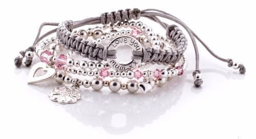 Personalised Silver Bracelet Stack | Love Lily Rose