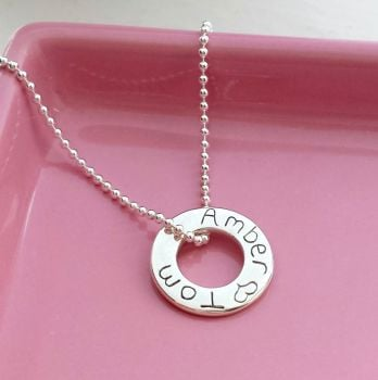 Personalised Message Ring Necklace