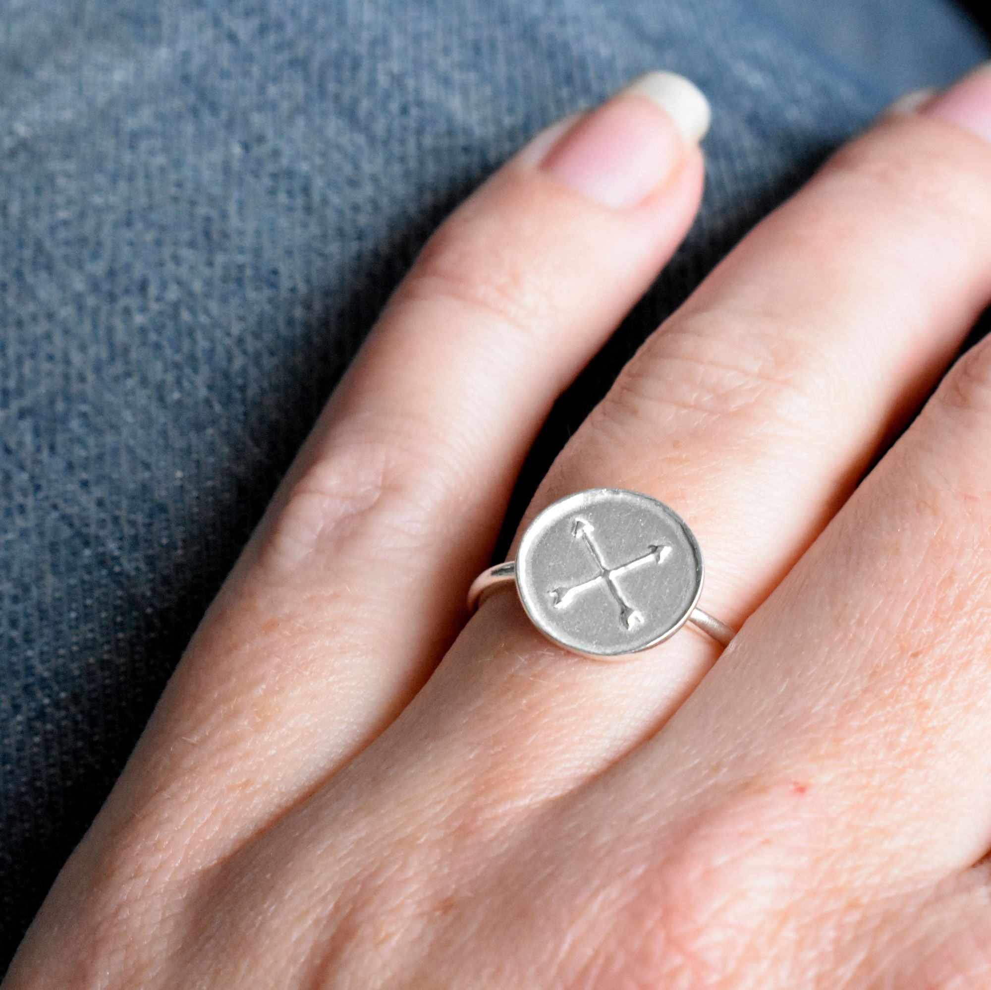 Silver Friendship Amulet Ring