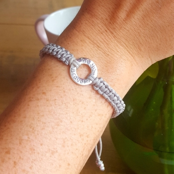 Message Ring Friendship Bracelet