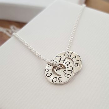 Personalised Mini Message Ring Necklace