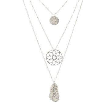 Oriana Halo Layered Necklace