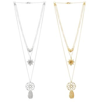 Oriana Strength Interchangable Layered Necklace