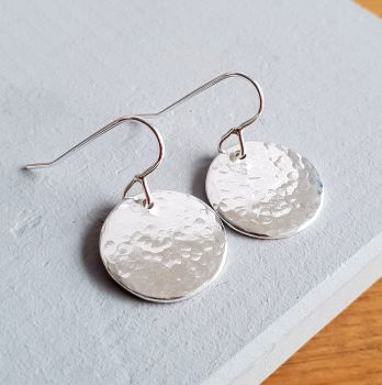 Silver Halo Drop Earrings