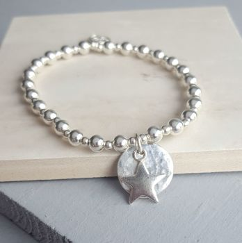 Halo and Star Charm Bracelet