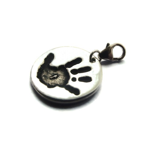 Handprint charm clasp for thomas sabo style bracelets