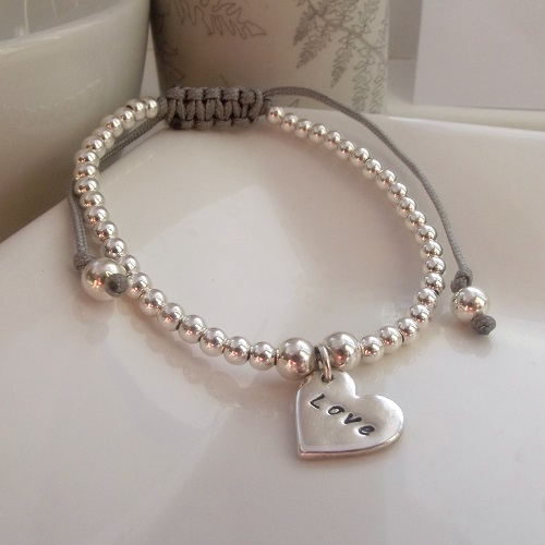 'Love' Friendship Bracelet|Sterling Silver Jewellery
