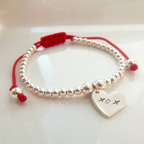 Kisses and Hugs Friendship Bracelet|Handmade Silver Jewellery By Love Lily Rose