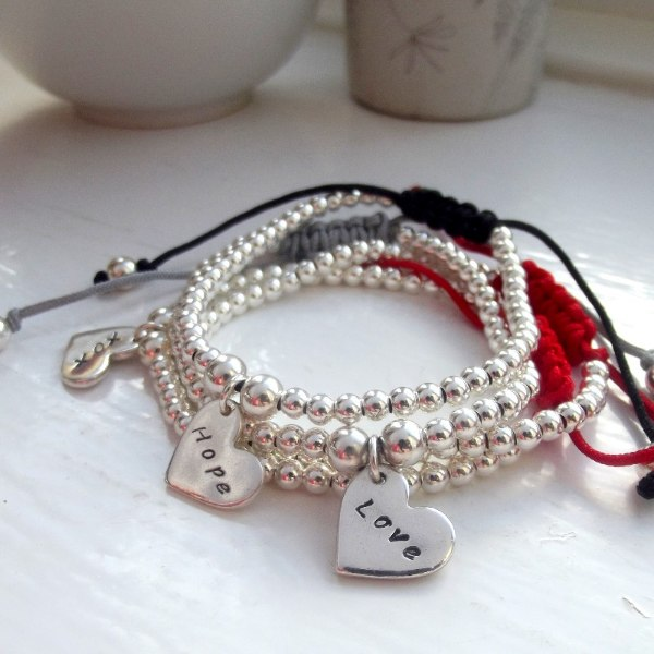 Silver Friendship Bracelets | Handmade Jewellery By Love Lily Rose